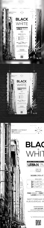 GraphicRiver Black & White Urban Party 11032907