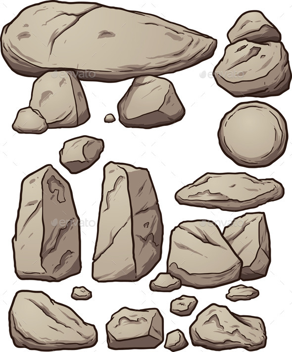 GraphicRiver Cartoon Boulders 11081943