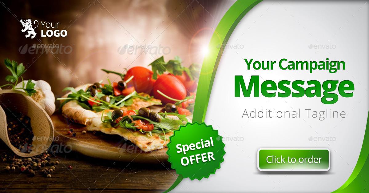 Food restaurant web facebook banners ads by belegija