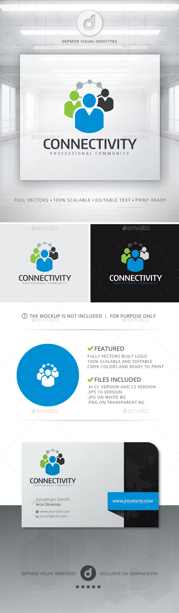 GraphicRiver Connectivity Logo 11082473