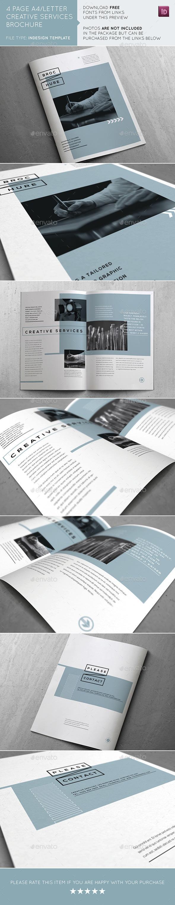GraphicRiver Creative Services Brochure 11082511
