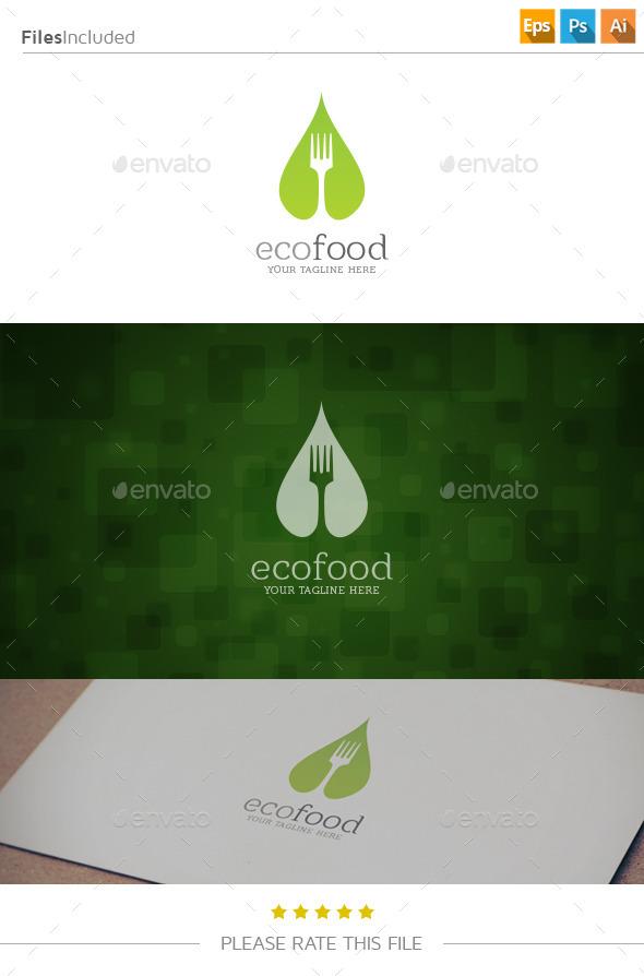GraphicRiver Eco Food Logo 11082768