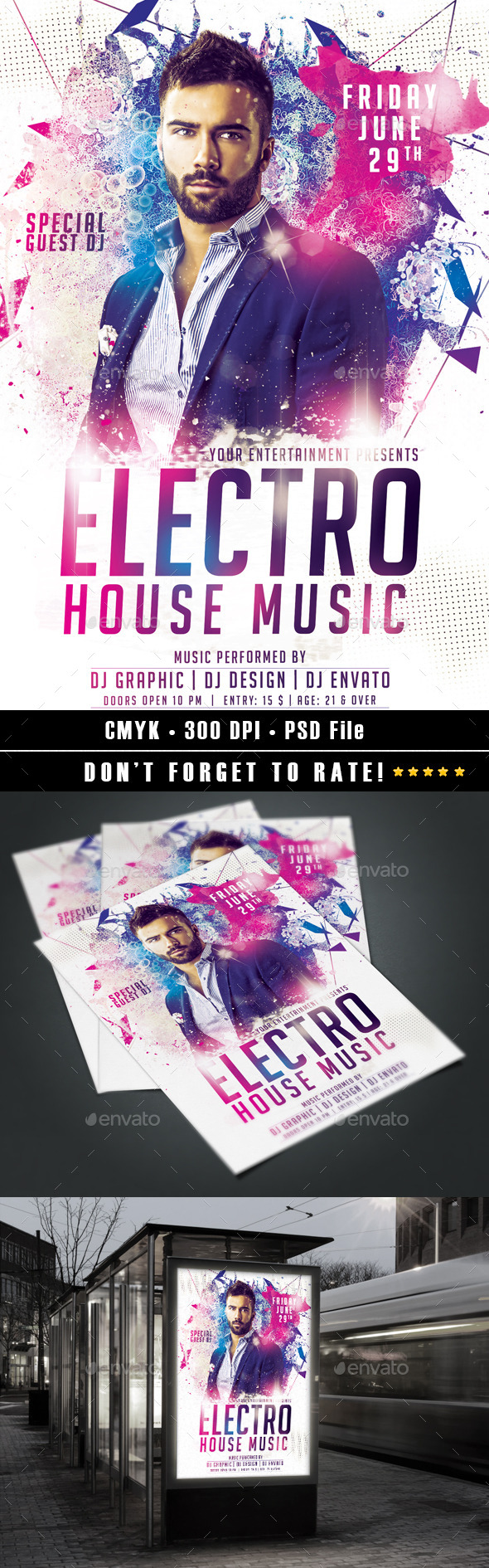 GraphicRiver Electro House Flyer 11083602