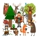 Forest Animals and Hunter - GraphicRiver Item for Sale