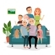 Family on Sofa - GraphicRiver Item for Sale
