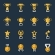 Award Cups and Trophy Icons - GraphicRiver Item for Sale