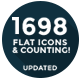 1557 Flat Icons and Counting - GraphicRiver Item for Sale