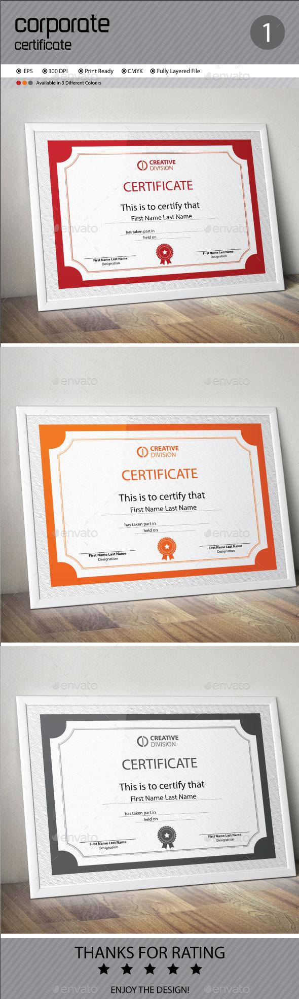 GraphicRiver Certificate 11084088