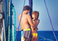 Happy lovers on sailboat - PhotoDune Item for Sale