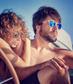 Young couple on sailboat - PhotoDune Item for Sale