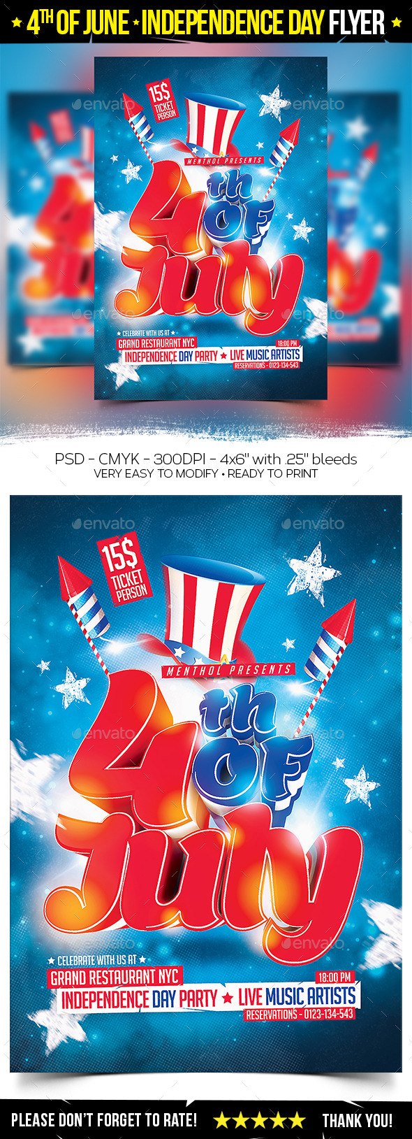 GraphicRiver 4th of July Independence Day Flyer 11084217