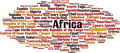 Countries in Africa Word Cloud Concept - PhotoDune Item for Sale