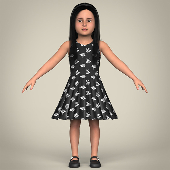 3DOcean Realistic Little Girl 11084267