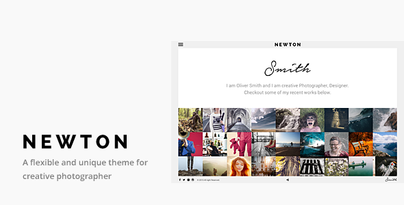 ThemeForest Newton Responsive Creative Photography Theme 11048492
