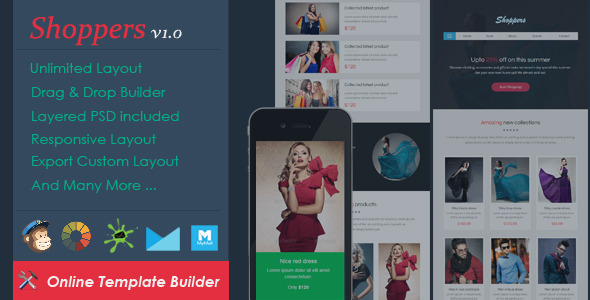 ThemeForest Shoppers Ecommerce Email & Drag & Drop Builder 11026911