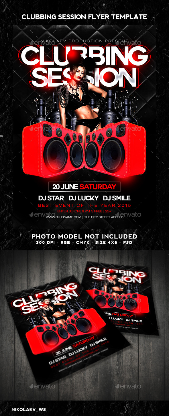 GraphicRiver Clubbing Session Flyer 11039269