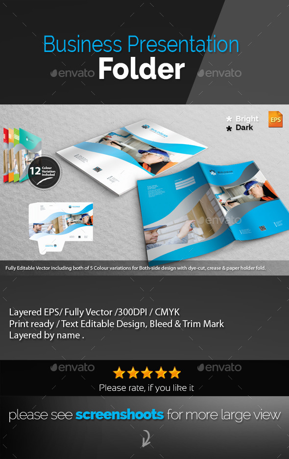 GraphicRiver Corporate Presentation Folder 11084837