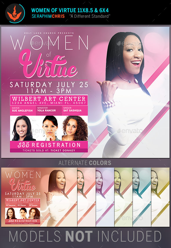 GraphicRiver Women of Virtue Conference Flyer Template 11084839