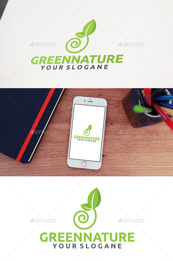 GraphicRiver Green World Logo 11085048