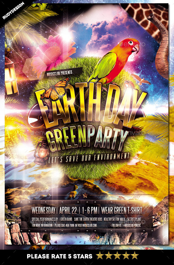 GraphicRiver Earth Day Flyer 11085558