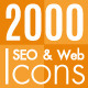 2000 SEO and Web Icons - GraphicRiver Item for Sale