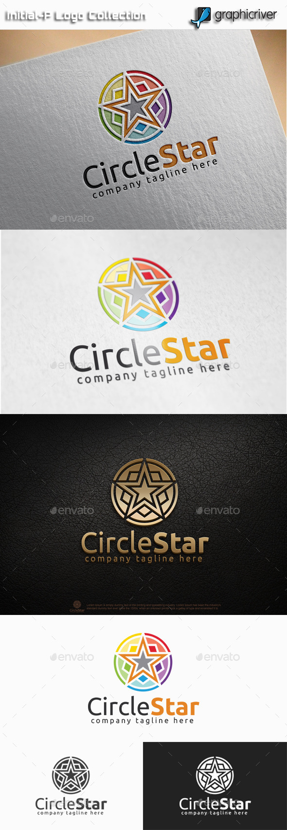 GraphicRiver Circle Star Logo 11085613