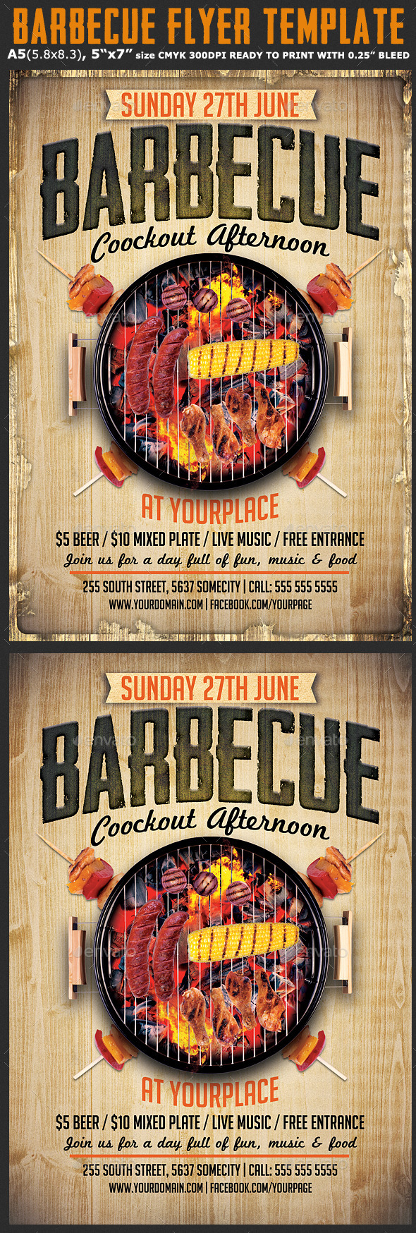 GraphicRiver Barbecue Flyer Template 11085683