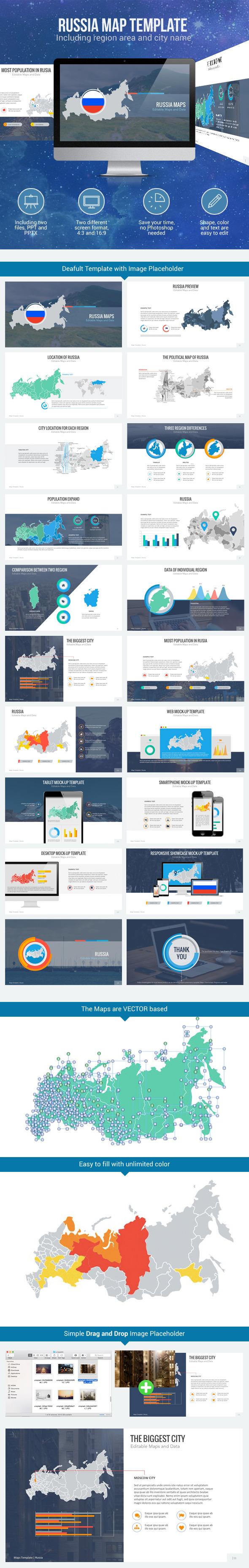 GraphicRiver Russia Map Editable Map Presentation 11035039