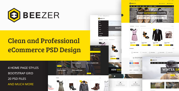 ThemeForest BEEZER eCommerce PSD Template 11085694