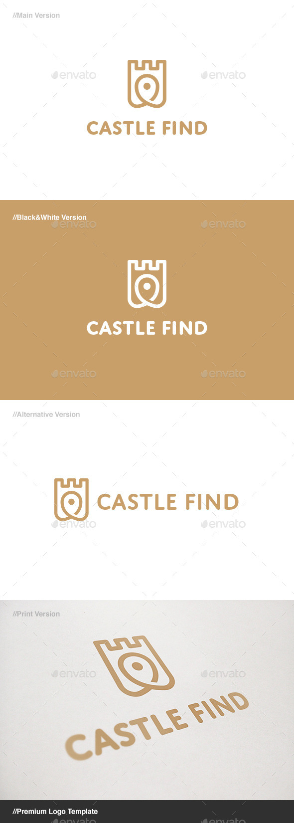 GraphicRiver Castle Find Logo 11085742