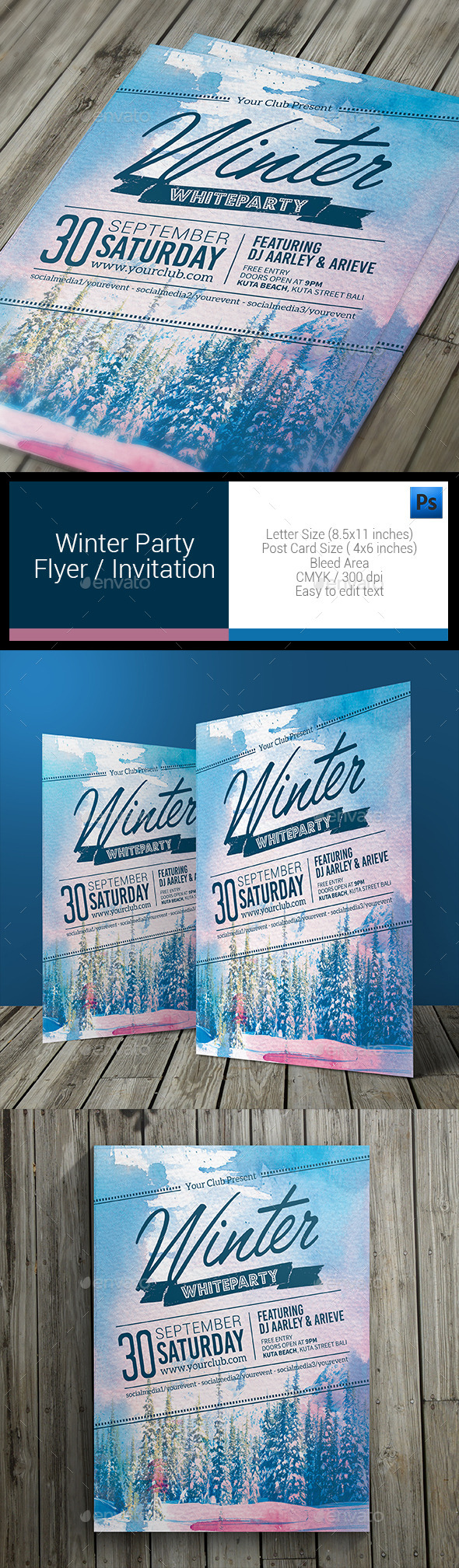 GraphicRiver Winter Party Flyer 11085748