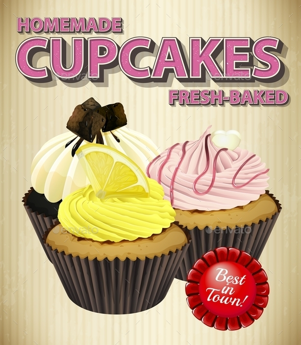GraphicRiver Cupcakes 11085947