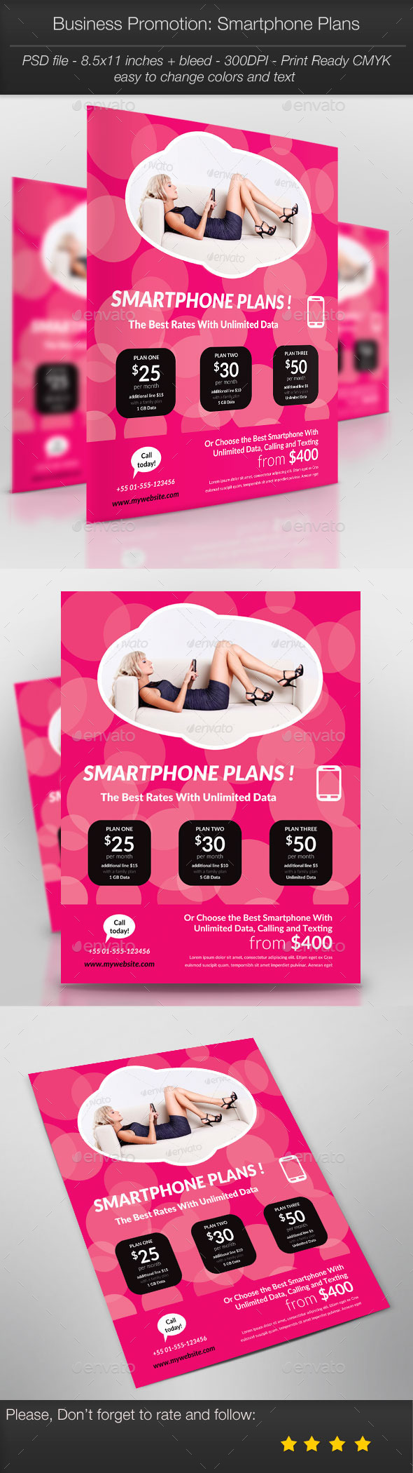 GraphicRiver Business Promotion Smartphone Plans 11085952
