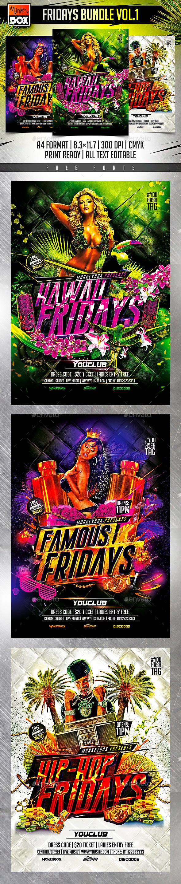 GraphicRiver Fridays Bundle Vol.1 11085954