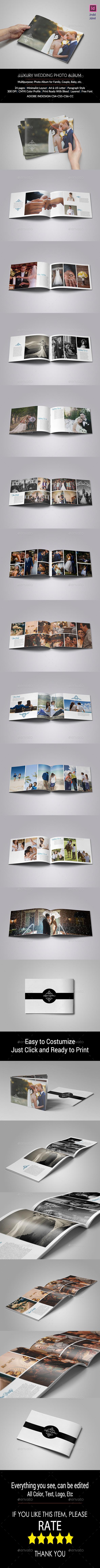 GraphicRiver Luxury Wedding Album 11085965