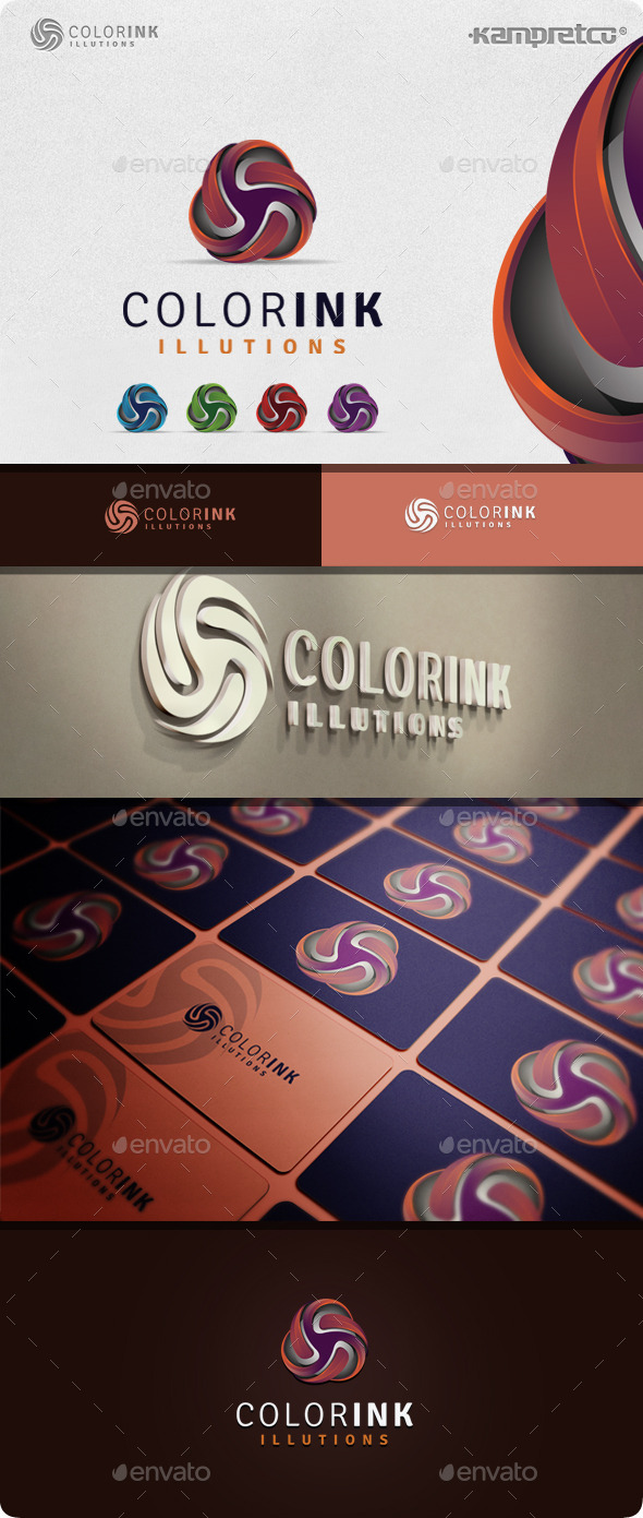 GraphicRiver Ink Circle Logo 11045590