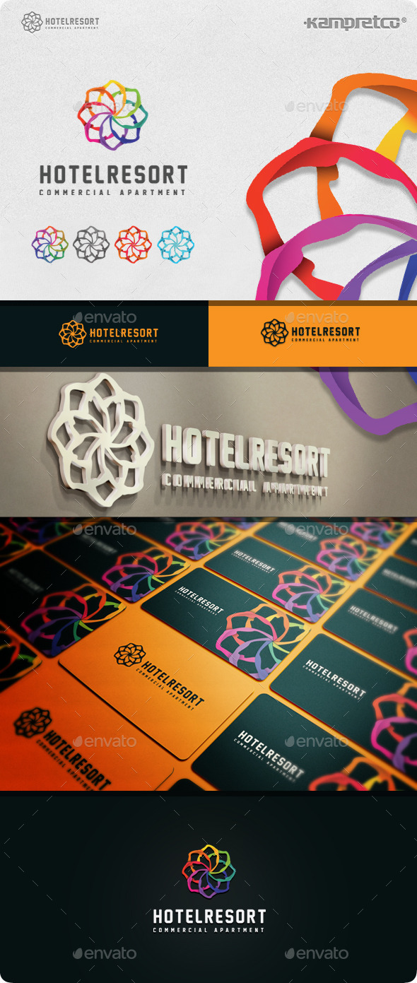 GraphicRiver Resort Hotel Logo 11045594