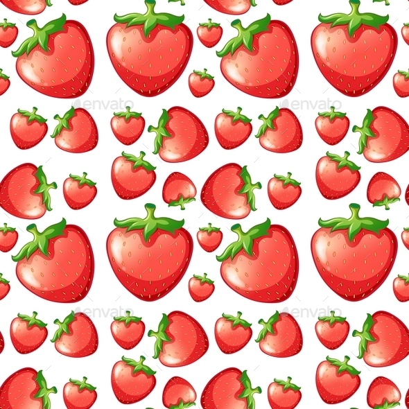 GraphicRiver Seamless Strawberry 11086418