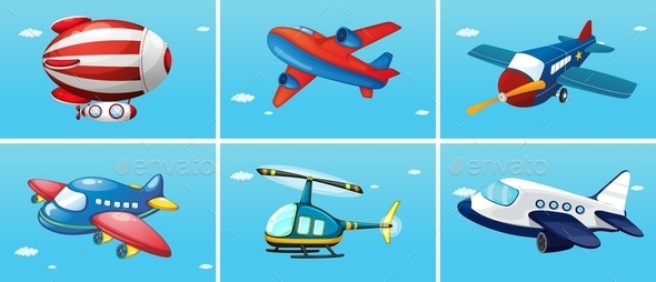 GraphicRiver Aircrafts 11086475