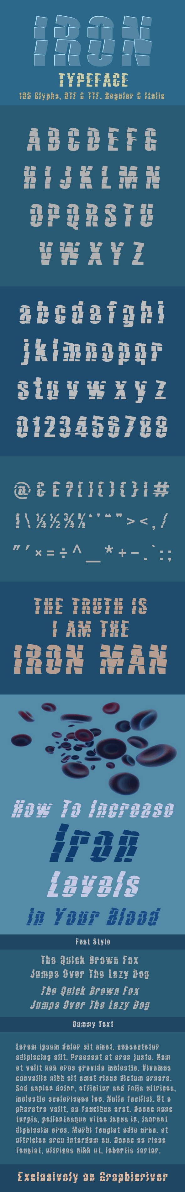 GraphicRiver Iron Typeface 11086639