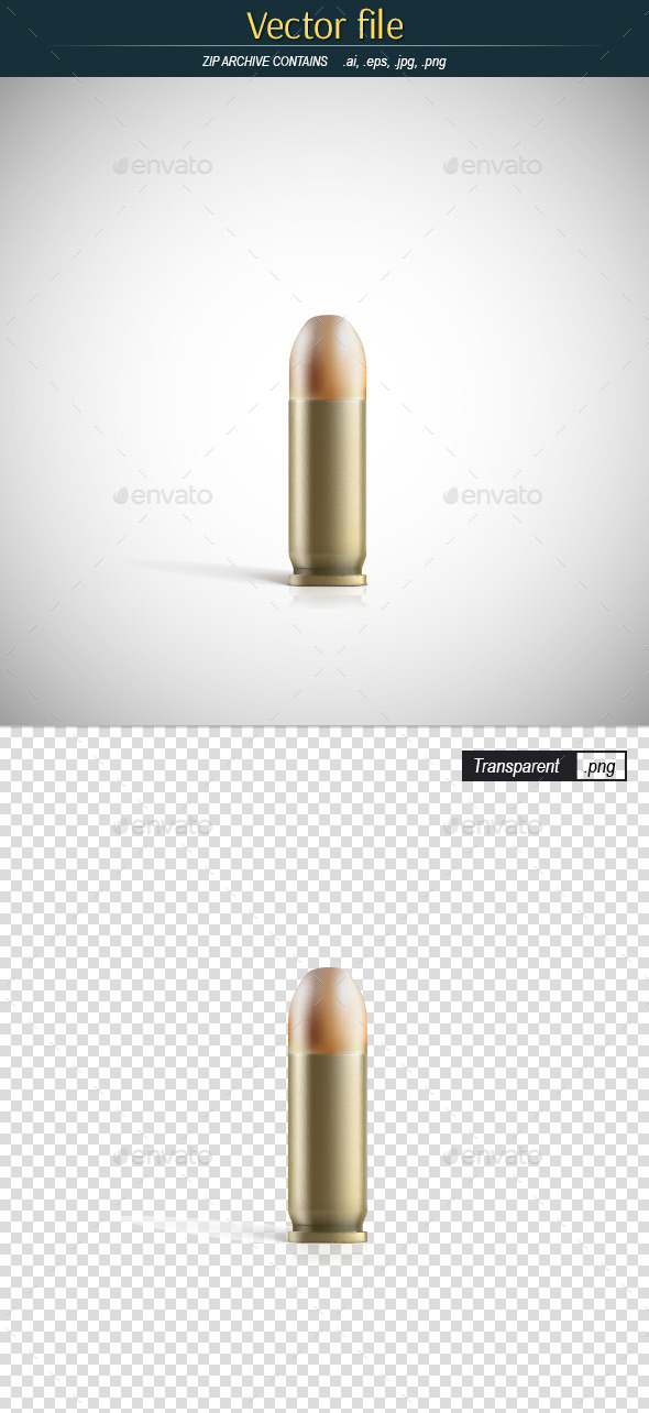 GraphicRiver Pistol Bullet with Sleeve 11086741