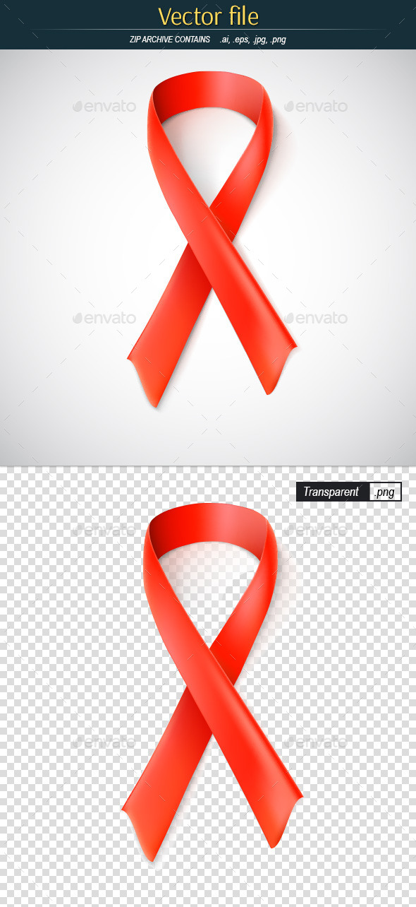 GraphicRiver Red Ribbon the Tymbol of the Fight Against Cancer 11086783
