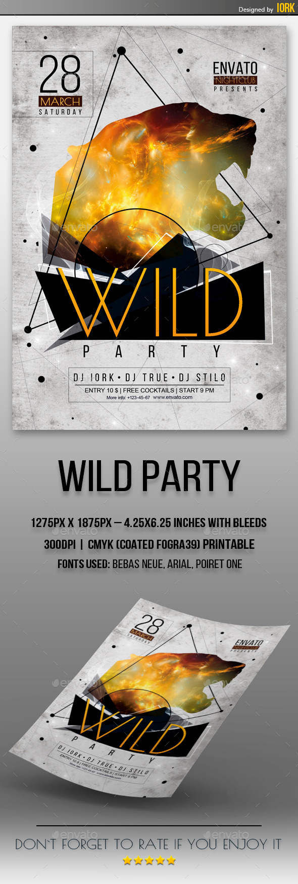GraphicRiver Wild Party Flyer 11086810