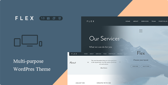 Flex – Multi-Purpose One + Multi Page Theme (Creative) Download