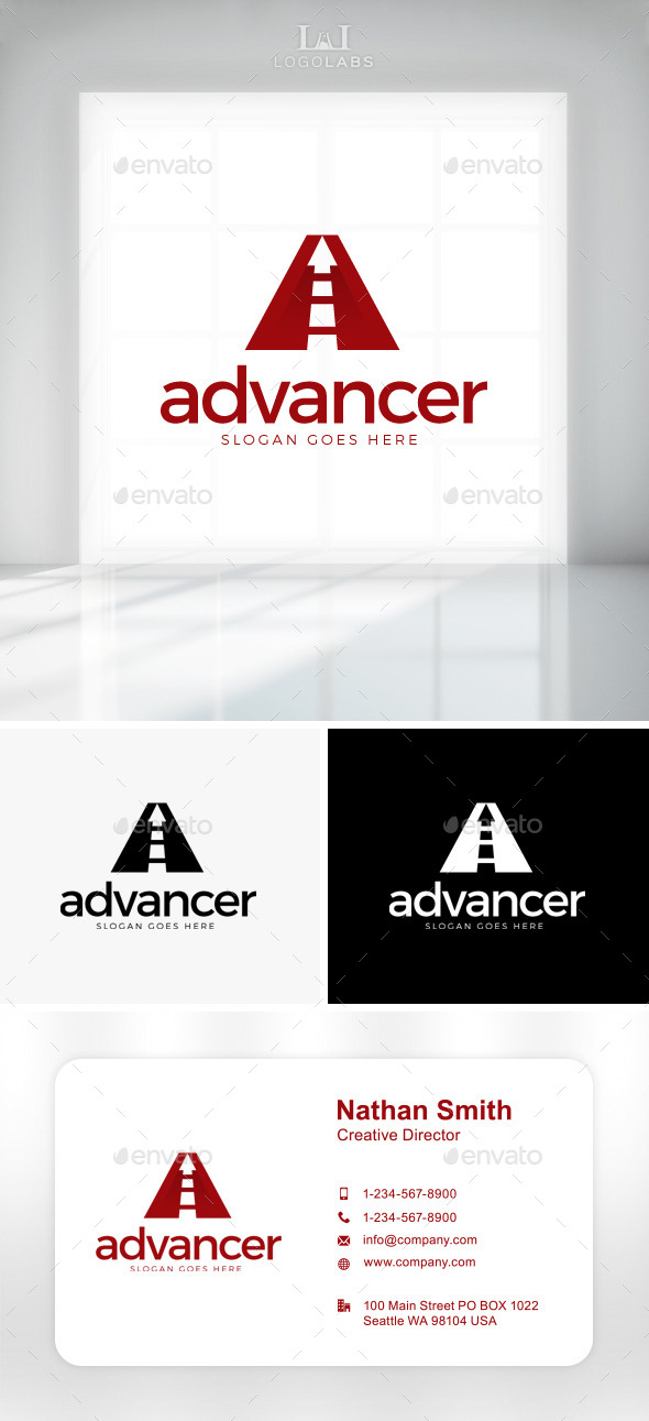GraphicRiver Advancer Letter A Logo 11086938