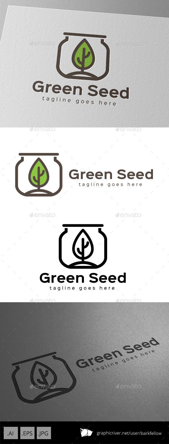 GraphicRiver Green Seed Jar Logo Design 11086994