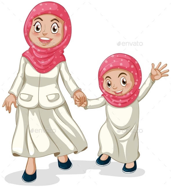 GraphicRiver Muslim Family 11087130
