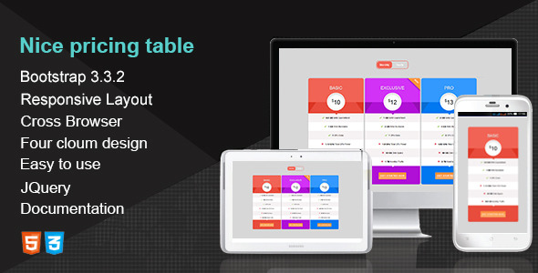 CodeCanyon Nice Pricing Table 10985100