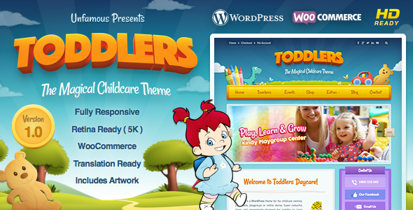 Toddlers - Child Care & Playgroup WordPress Theme