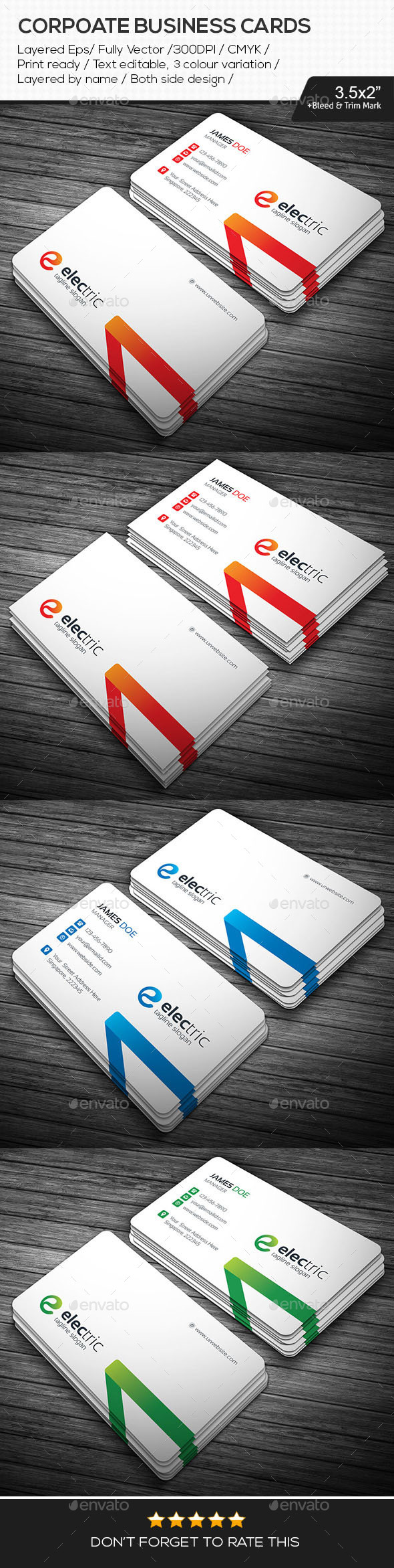 GraphicRiver Electric Corporate Business Cards 11040613